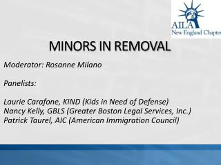 MINORS IN REMOVAL