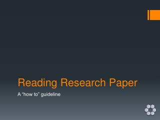 Reading Research Paper