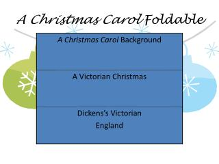A Christmas Carol Foldable