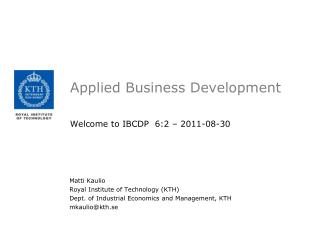 Applied  Business Development