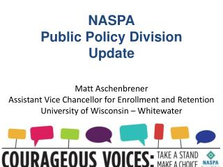 NASPA Public Policy Division Update
