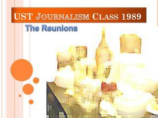 UST  Journalism  Class 1989