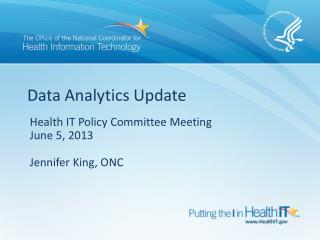Data Analytics Update
