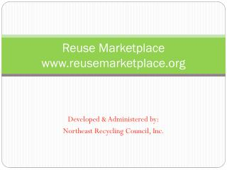 Reuse Marketplace reusemarketplace