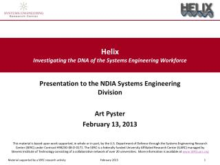 Helix Investigating the DNA of the Systems Engineering  Workforce
