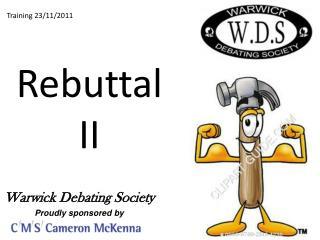 Rebuttal  II