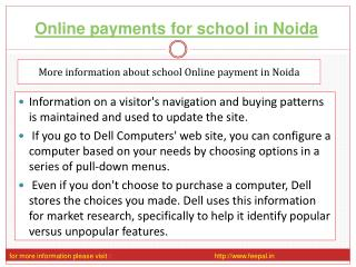 Learn more on an online payment for school in Noida