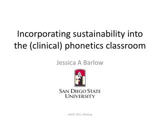 Incorporating sustainability into the (clinical) phonetics classroom
