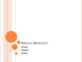 Briana Hewlett
