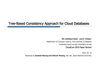 Tree-Based Consistency Approach for Cloud Databases