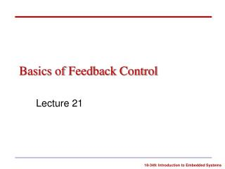 Basics of Feedback Control