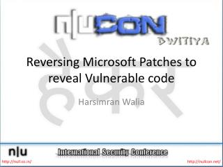 Reversing Microsoft Patches to reveal Vulnerable code