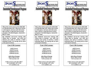 Basketball Development Program