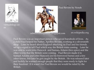 Paul Revere by Norah