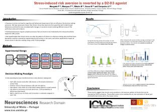 Stress-induced  risk aversion is reverted by a D2-D3  agonist