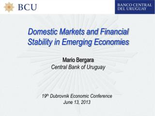 Domestic Markets and Financial Stability in Emerging Economies Mario  Bergara