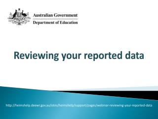 Reviewing your reported data
