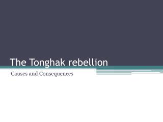 The  Tonghak  rebellion