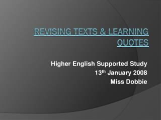 Revising Texts & Learning Quotes