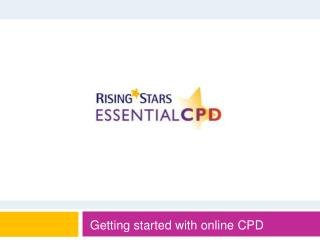 Getting started with online CPD