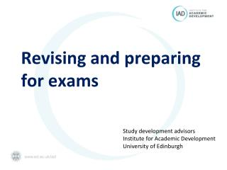 Revising and preparing for exams