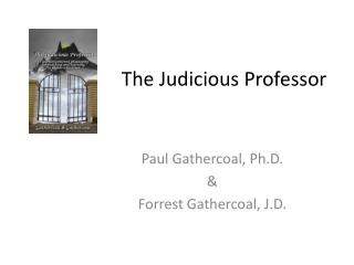 The Judicious Professor
