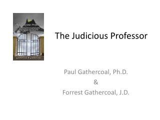 The Judicious Professor
