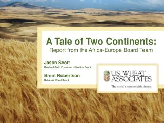 A Tale of Two Continents: Report from the Africa-Europe Board Team