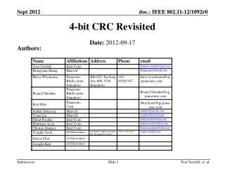 4-bit CRC Revisited