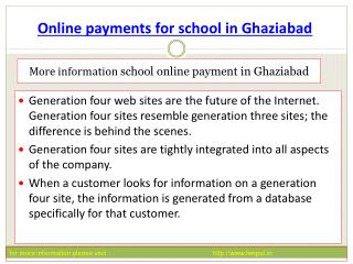 The first time you made online payment for school in Ghaizab