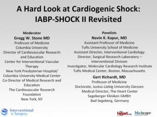 A Hard Look at Cardiogenic Shock: IABP-SHOCK II Revisited