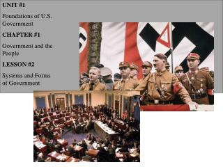 UNIT 1            Foundations of U.S. Government CHAPTER 1 Government and the People LESSON 2 Systems and Forms of Gover