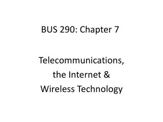 BUS 290: Chapter 7
