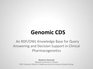 Genomic  CDS