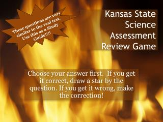 Kansas State Science Assessment Review Game