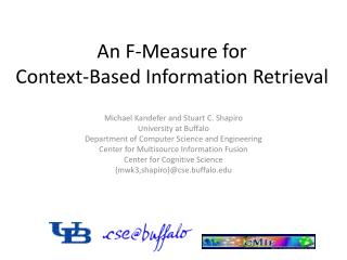 An F-Measure for  Context-Based Information Retrieval