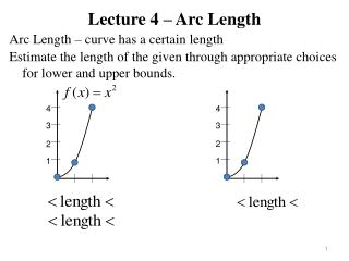 Lecture 4 – Arc Length