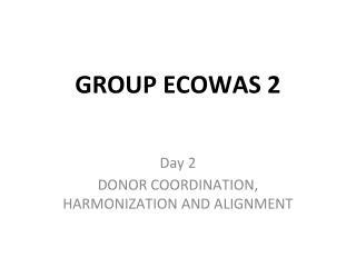 GROUP ECOWAS 2