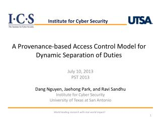 A Provenance-based Access Control Model for Dynamic Separation of Duties