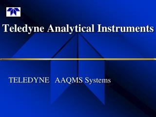 Teledyne Analytical Instruments