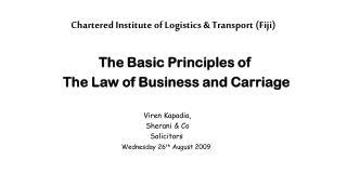 Chartered Institute of Logistics  Transport Fiji