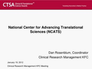 National Center for Advancing Translational Sciences (NCATS )