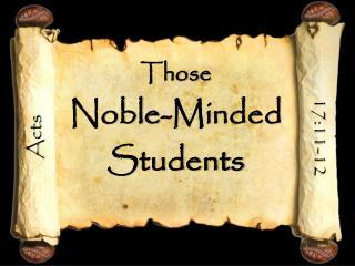 Those  Noble-Minded Students