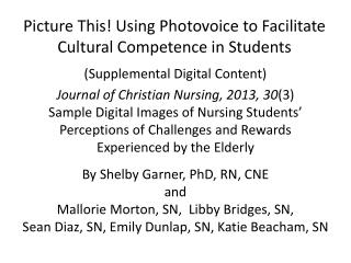 Picture This! Using Photovoice to Facilitate Cultural Competence in Students