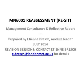 MN6001 REASSESSMENT (RE-SIT)