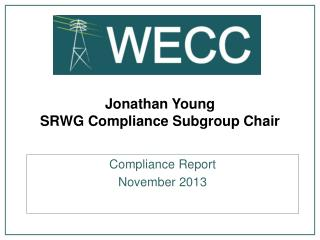 Jonathan Young SRWG Compliance Subgroup Chair