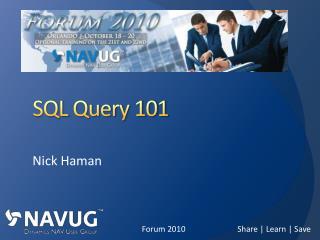 SQL  Query 101