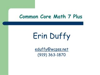 Common Core Math 7 Plus