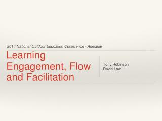 Learning Engagement, Flow and Facilitation