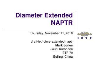 Diameter Extended NAPTR